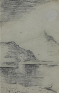 paesaggio di lago by carlo carrà