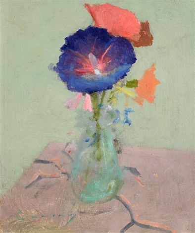 Still Life Flowers In A Vase By Fred Cuming On Artnet