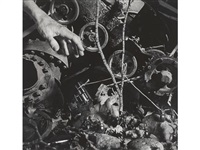 untitled (tree, hand, cogs, gun) by david wojnarowicz