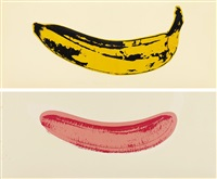 banana (in 2 parts) by andy warhol