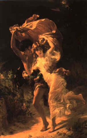 lorage the storm by pierre auguste cot