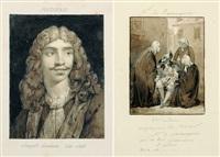 illustration pour les pièce de molière (+ 19 others; 20 works) by robert léopold leprince