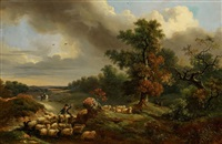 landschaft mit schafherde by johann jakob dorner the younger