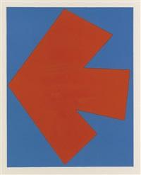 orange over blue by ellsworth kelly
