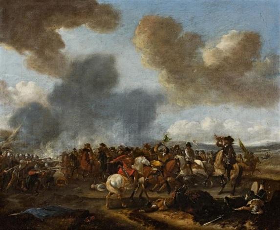 scène de bataille avec des hussards polonais by pieter wouwerman