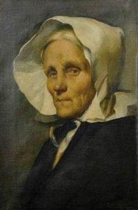 portrait d'une grand-mère à la coiffe by ottilie w. roederstein