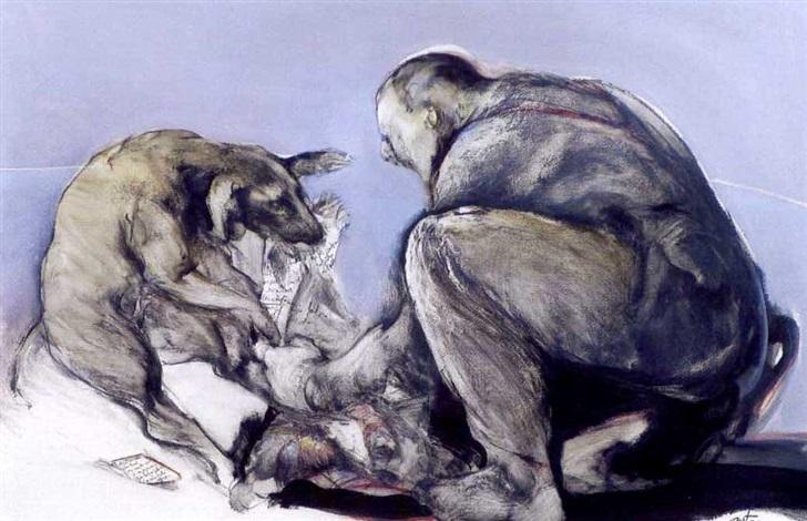 lhomme au chien by françois anton