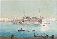 vittoriosa (birgu) and the grand harbour from valletta, malta by nicholas krasnoff