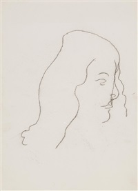 three drawings of lauretta hugo nicholson by matthew smith