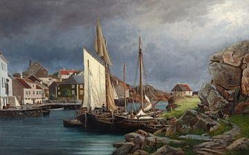 hus og båter i ny hellesund by edvard skari