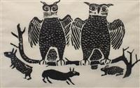 owls and rabbits by joe talirunili