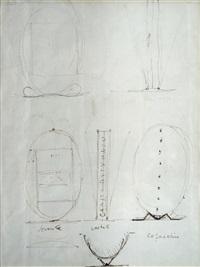 progetto per multiplo (recto-verso) by lucio fontana