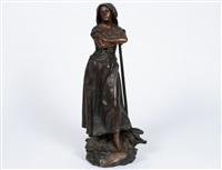 peasant girl by henri godet