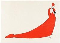 la drape rouge by rené gruau
