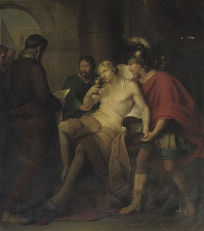 alexander the great with his physician philip by ludovicus adriaen frans moons
