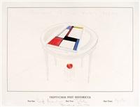 triptychos post historicus (piet mondriaan) by braco dimitrijevic
