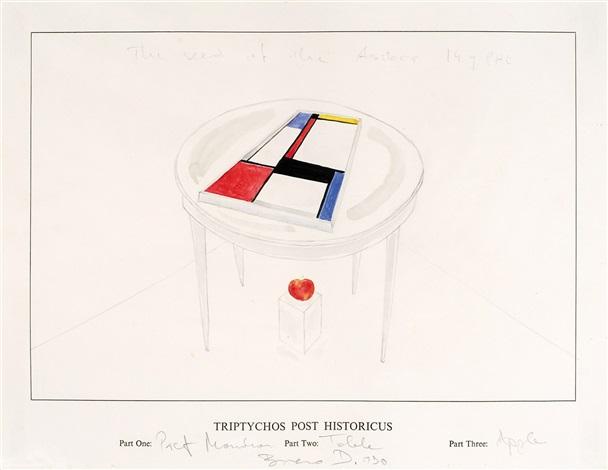 triptychos post historicus piet mondriaan by braco dimitrijevic