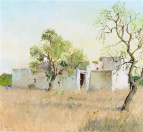 study in the sun ibiza by terence cuneo