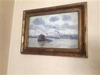 quais de paris(?) et paysage de la seine (2 works) by jean constant raymond renefer