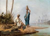 scène orientaliste by lieutenant long