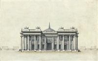 monument à la gloire de louis xvi, élévation principale by jean-jacques lequeu