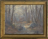 a stream in a forest by hal robinson