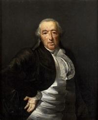 portrait d'homme en buste, la main sur la hanche by henri-pierre danloux