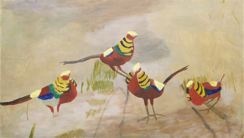 golden pheasants by mary newcomb
