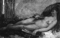 nu à l'éventail by cesare bacchi