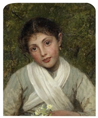 portrait of a young girl by sophie anderson