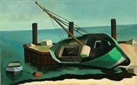 trockenliegendes fischerboot by theo garvé