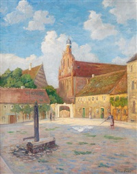 market place of a small town by doris am ende