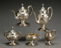 coffee and tea service in old master pattern (set of 5) by towle silver