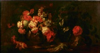 nature morte aux fleurs by niccolino van houbraken