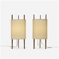 table lamps model 9, pair by isamu noguchi