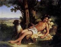 l'âtre endormi by raymond auguste quinsac monvoisin