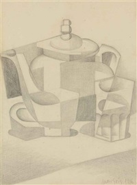 nature morte à la théière by juan gris