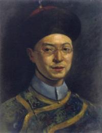 der mandarin kunpah t. king, peking by robert heinrich freiherr von doblhoff