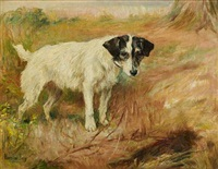 jack russell in a landscape by florence jay