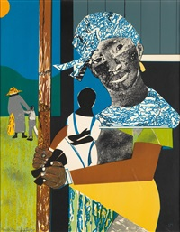 come sunday (mother and child) by romare bearden