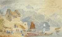 fort victoria, kow loon by thomas allom