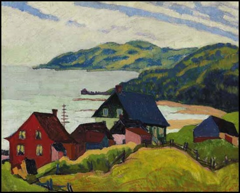 farmhouses la malbaie by randolph stanley hewton