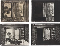 in the museum of modern art 9set of 4) by howard hodgkin