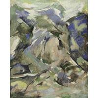 paysage de montagne by raymond abner