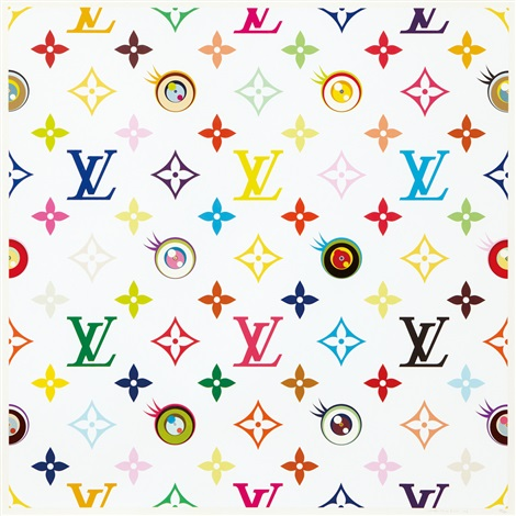 eye love superflat white by takashi murakami