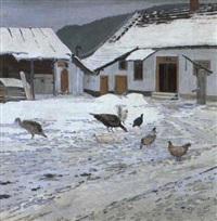 bauernhof im winter by hugo baar