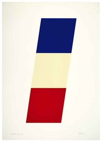 blue/white/red by ellsworth kelly