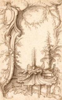 cartouche rocaille by pierre-edmé babel