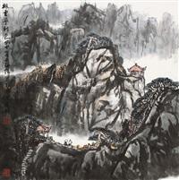 排云亭秋色 by liu ruyang