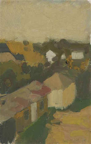 view from studio by fairfield porter